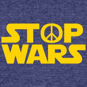 Stop Wars - Unisex Tri-Blend T-Shirt by American Apparel