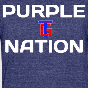Purple Nation: Purple Edition - Unisex Tri-Blend T-Shirt by American Apparel
