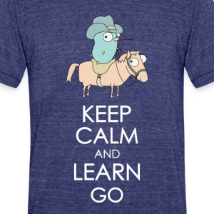 Golang Cowboy - Unisex Tri-Blend T-Shirt by American Apparel