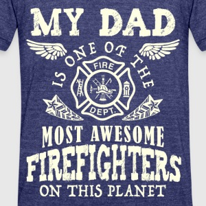 fire dept - Unisex Tri-Blend T-Shirt by American Apparel