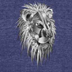 Lion - Unisex Tri-Blend T-Shirt by American Apparel