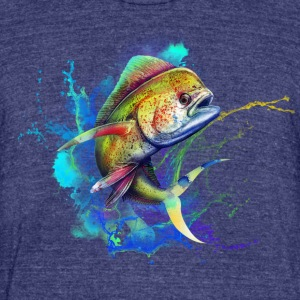 mahi mahi - Unisex Tri-Blend T-Shirt by American Apparel