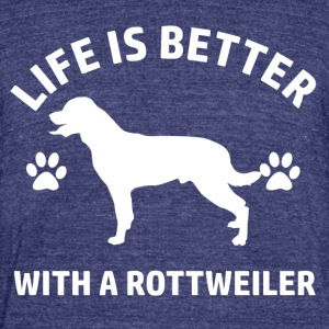 rottweiler design - Unisex Tri-Blend T-Shirt by American Apparel