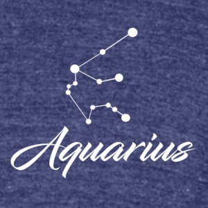 Aquarius Star sign Zodiac - Unisex Tri-Blend T-Shirt by American Apparel