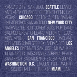 USA CITIES - Unisex Tri-Blend T-Shirt by American Apparel
