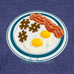 Hashtag Breakfast Plate - Unisex Tri-Blend T-Shirt by American Apparel