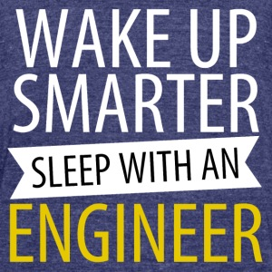 Wake up smarter - Unisex Tri-Blend T-Shirt by American Apparel
