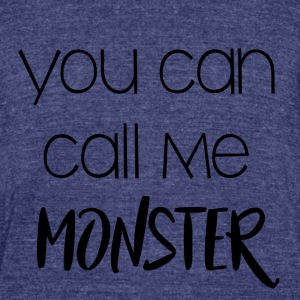 Monster EXO - Unisex Tri-Blend T-Shirt by American Apparel