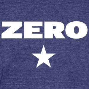 ZERO - Unisex Tri-Blend T-Shirt by American Apparel