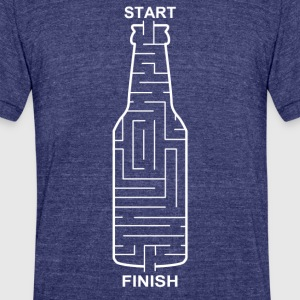 Beer Maze - Unisex Tri-Blend T-Shirt by American Apparel