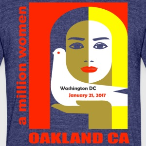 Women-s March on Oakland CA - Unisex Tri-Blend T-Shirt by American Apparel