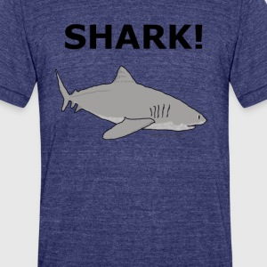 SHARK! - Unisex Tri-Blend T-Shirt by American Apparel