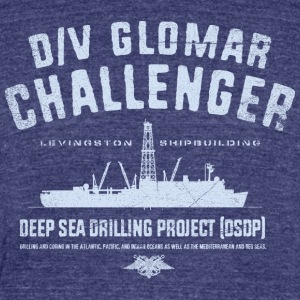 Glomar Challenger - Unisex Tri-Blend T-Shirt by American Apparel