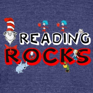 rock reading - Unisex Tri-Blend T-Shirt by American Apparel