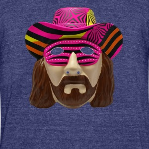 Macho Man Mask - Unisex Tri-Blend T-Shirt by American Apparel