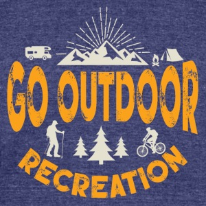 Go Outdoor Tee - Unisex Tri-Blend T-Shirt by American Apparel