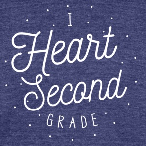 I Heart Second Grade Design for Teachers - Unisex Tri-Blend T-Shirt by American Apparel