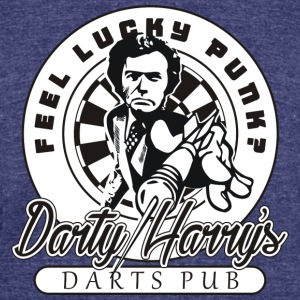 Darty Harry's Darts Pub Darts Shirt - Unisex Tri-Blend T-Shirt by American Apparel