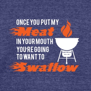 Nasty barbebecue - Unisex Tri-Blend T-Shirt by American Apparel