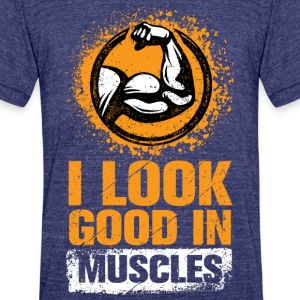 Muscles - Unisex Tri-Blend T-Shirt by American Apparel