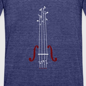 Violin Design - Unisex Tri-Blend T-Shirt by American Apparel