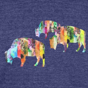 Bison - Unisex Tri-Blend T-Shirt by American Apparel