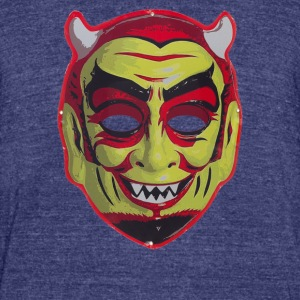 Devil Mask - Unisex Tri-Blend T-Shirt by American Apparel