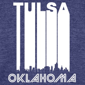 Retro Tulsa Skyline - Unisex Tri-Blend T-Shirt by American Apparel