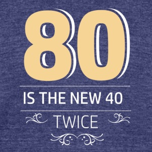 80 years and increasing in value - Unisex Tri-Blend T-Shirt by American Apparel