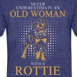 OLD WOAN ROTTIE DOGS T-Shirt - Unisex Tri-Blend T-Shirt by American Apparel