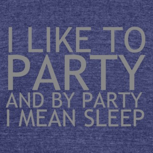 Party - Unisex Tri-Blend T-Shirt by American Apparel