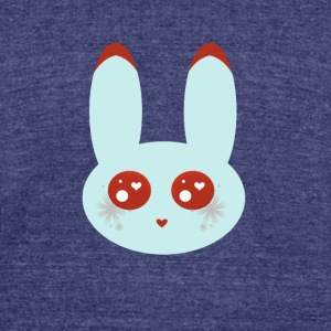 blue bunny - Unisex Tri-Blend T-Shirt by American Apparel