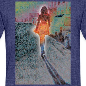 SHE FLOATS LIKE AN ANGEL - Unisex Tri-Blend T-Shirt by American Apparel