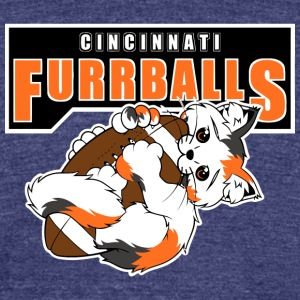 Cincinnati Furrballs - Unisex Tri-Blend T-Shirt by American Apparel