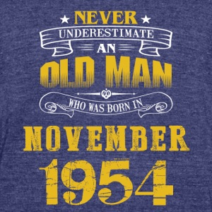 An Old Man Who Was Born In November 1954 - Unisex Tri-Blend T-Shirt by American Apparel