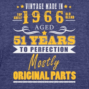 Vintage made in 1966 - 51 years to perfection (v.2017) - Unisex Tri-Blend T-Shirt by American Apparel