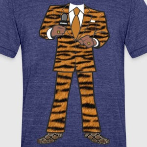 The Tiger Suit - Unisex Tri-Blend T-Shirt by American Apparel