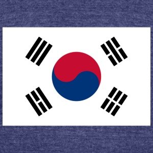 Flag of South Korea - Unisex Tri-Blend T-Shirt by American Apparel