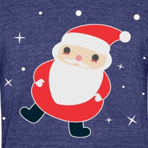 Kawaii Santa - Unisex Tri-Blend T-Shirt by American Apparel