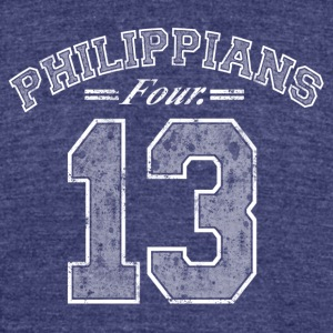 Philippians 4:13 - Unisex Tri-Blend T-Shirt by American Apparel