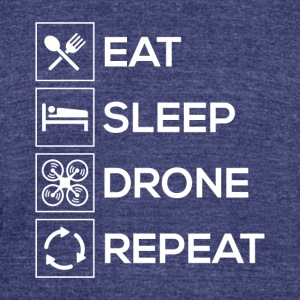 Eat Sleep Drone Repeat - Unisex Tri-Blend T-Shirt by American Apparel