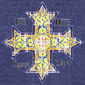 Christian Coptic Cross - Unisex Tri-Blend T-Shirt by American Apparel