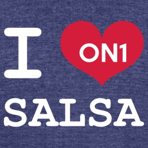 I Love Salsa On 1 - Unisex Tri-Blend T-Shirt by American Apparel