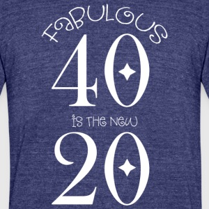 FAB40NEW20-White - Unisex Tri-Blend T-Shirt by American Apparel