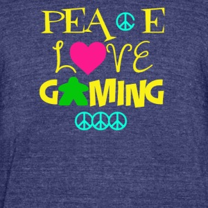 Peace Love Gaming - Unisex Tri-Blend T-Shirt by American Apparel