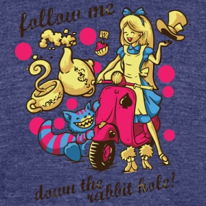 Follow Me - Unisex Tri-Blend T-Shirt by American Apparel