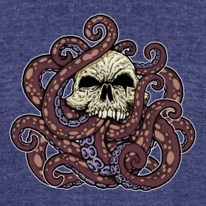 Tentacled Terror Octoskull - Unisex Tri-Blend T-Shirt by American Apparel