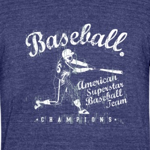 BASEBALL Team - Unisex Tri-Blend T-Shirt by American Apparel
