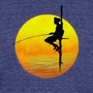 Fisherman - Unisex Tri-Blend T-Shirt by American Apparel