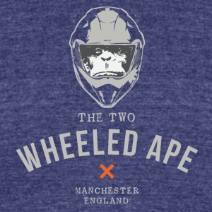 Two Wheeled Ape X design Light NEW - Unisex Tri-Blend T-Shirt by American Apparel